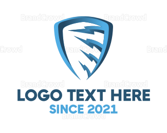 Anti-virus - Blue Thunder Shield logo design