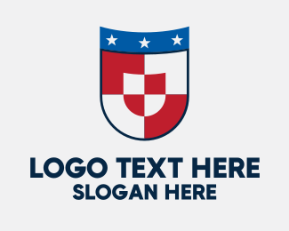 Coat Of Arms - Checkered Star Shield logo design