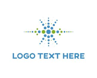 Electronics - Blue Dots logo design