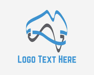 Map - Modern Australia logo design