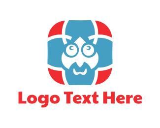 Teacher - Blue Man Cartoon logo design