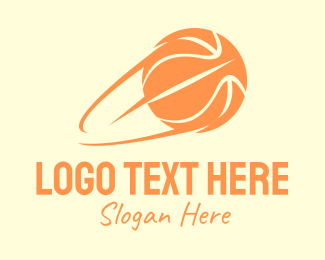 Basketball Court - Fast Basketball Shot logo design