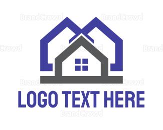 Neighborhood - Blue Grey House logo design