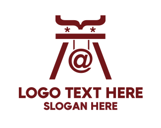 Web Development - Maroon Code logo design