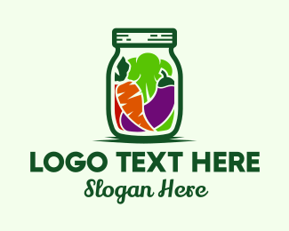 Market - Healthy Vegetable Pickle Jar logo design