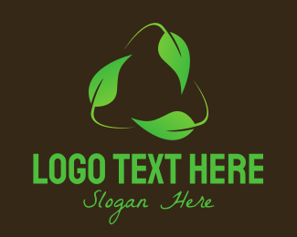 Farm Produce - Green Recycle Leaf  logo design