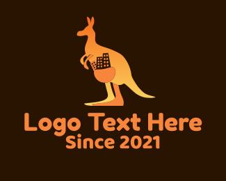 Real Estate - Kangaroo Pouch Apartment logo design