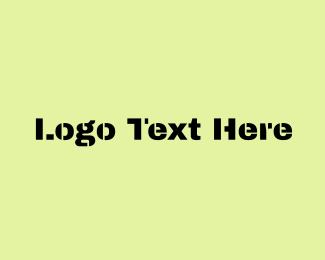 Text - Military Text logo design