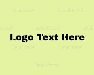 Text - Military Text logo design