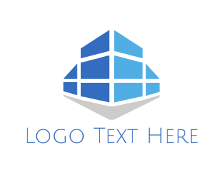 Siding - Blue Building logo design