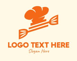 Chef Hat - Orange Culinary Chef logo design