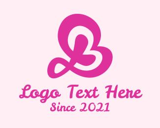 Beauty Brand - Pink Letter B Beauty logo design