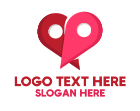 Locator - Dating Location logo design