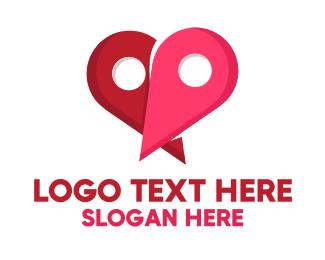 Location - Dating Location logo design