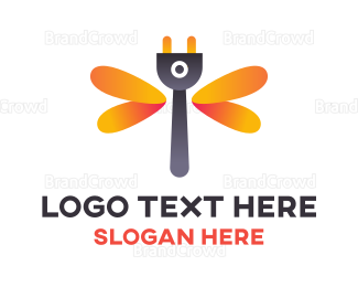 Current - Dragonfly Plug logo design