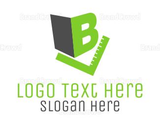Build - Letter B & Green Rule logo design