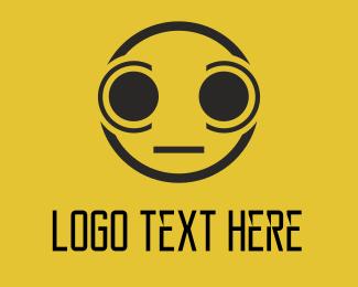 Emoji - Yellow Eyes logo design