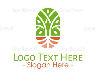 Agricultural - Organic Wellness Emblem logo design