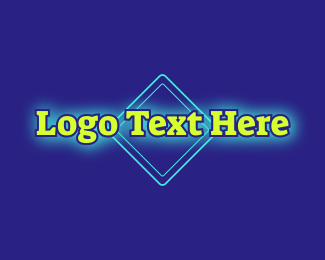 70s - Bright Neon Wordmark logo design