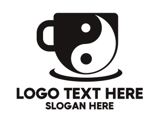 Coffee Cup - Yin Yang Cup logo design