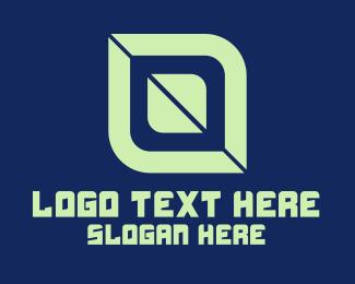 Green Digital Shape Logo
