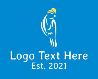 Finch - Cockatoo Galah Bird logo design