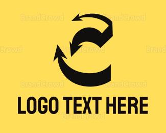 Shadow - Arrow Shadow C logo design