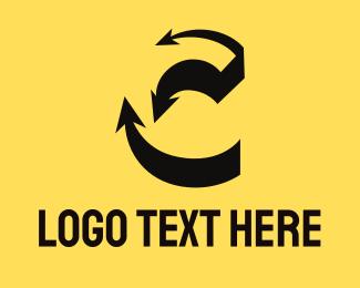 Letter C - Arrow Letter C logo design