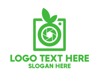Green Camera - Green Food Photography logo design