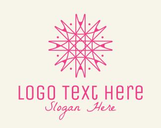 Interior Decorator - Pink Snowflake Decor logo design