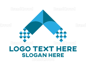 Bitmap - Digital Arrow logo design
