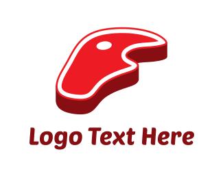 Bbq - Red Steak logo design