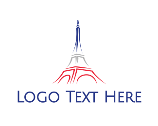 Dome - Eiffel Tower Sketch logo design