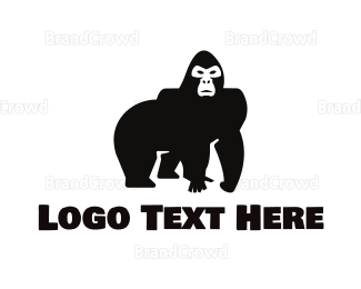 Wildlife - Wild Gorilla logo design