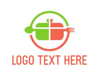 Pan - Cooking Circle logo design