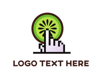 Supermarket - Kiwi & Click logo design
