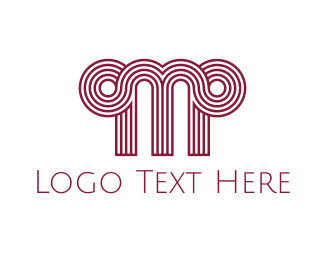"""Greek Letter M"" by Logobrary"