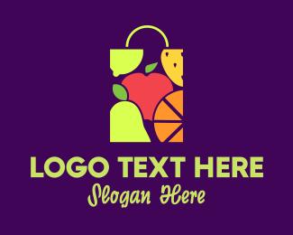 Fresh Fruit - Fruit Shopping logo design