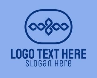 Infinity Symbol - Blue Decor Emblem logo design