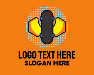 Skater - Retro Skater Park logo design