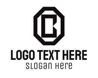 """Black Octagon Letter B"" by Alexxx"