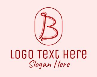 Magenta - Handwritten Letter B  logo design