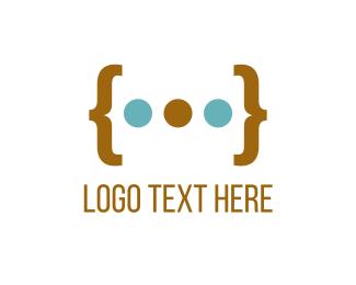 Parenthesis & Dots Logo