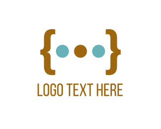 Prescription - Parenthesis & Dots logo design
