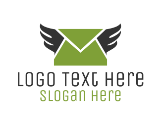 Wing - Mail Wings logo design