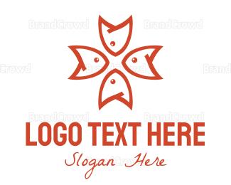 Fishbone - Fish Star logo design