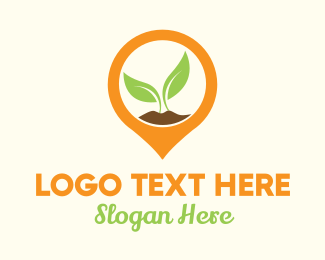 """Plant Location Pin"" by LogoBrainstorm"