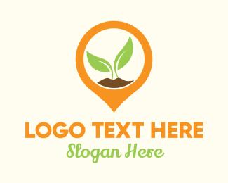 """Plant Location Pin"" by LogoBrainstorm"