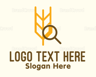 Crops - Wheat Research logo design