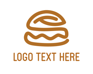 Cheeseburger - Brown Burger logo design